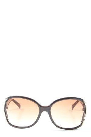 Guess Occhiale da sole ovale marrone-oro Stampa a tema stile casual
