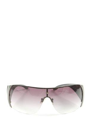 Guess ovale Sonnenbrille schwarz-wollweiß Motivdruck Casual-Look