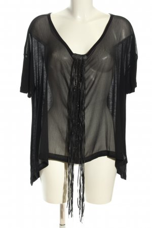 Guess Oversized Bluse schwarz Casual-Look
