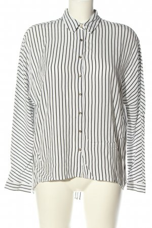 Guess Oversized blouse wit-zwart gestreept patroon casual uitstraling