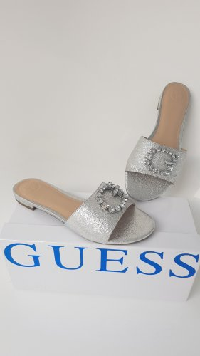 Guess Heel Pantolettes silver-colored