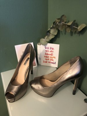 Guess Peep Toes, Plateau, Glanzleder