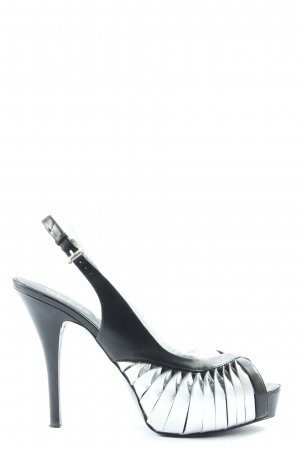Guess Peep Toe Pumps zwart-lichtgrijs extravagante stijl