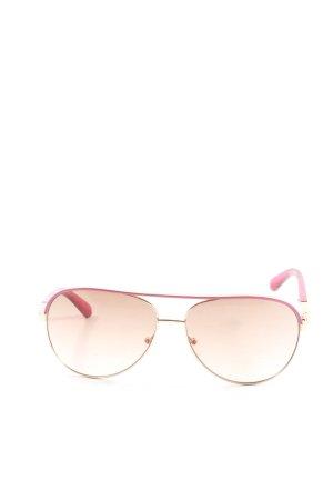 Guess Gafas de piloto rosa-color oro look casual