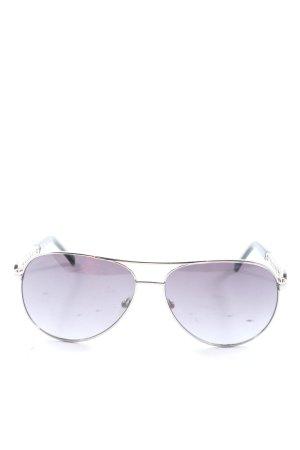 Guess Pilot Brille silberfarben-schwarz Casual-Look