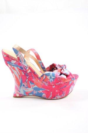 Guess Sandales à plateforme rose-bleu motif abstrait élégant