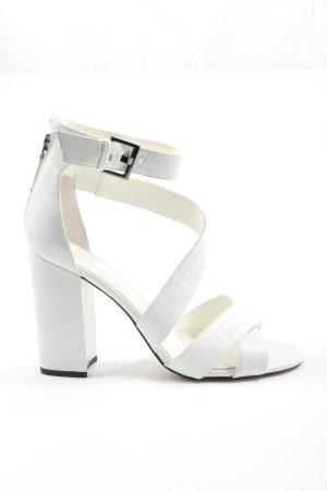 Guess Sandalias de tacón alto blanco elegante