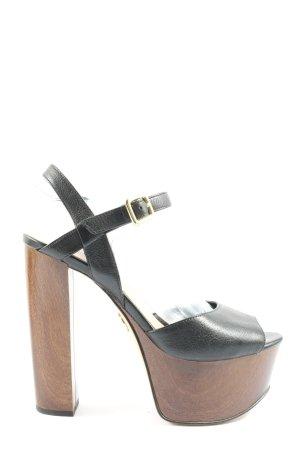 Guess Platform High-Heeled Sandal black-brown casual look