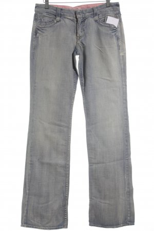 Guess Premium Boot Cut Jeans blassblau-rosa Casual-Look