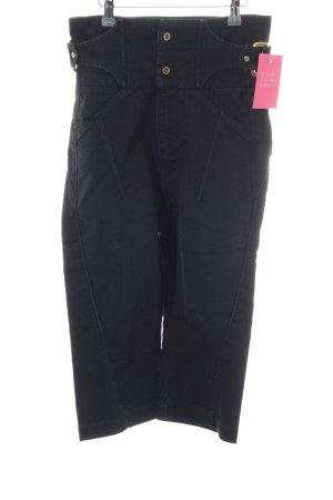 Guess Premium Hoge taille jeans zwart geborduurde letters casual uitstraling