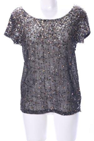 Guess Premium Netzshirt silberfarben Elegant