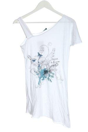 Guess Print-Shirt weiß Motivdruck Casual-Look