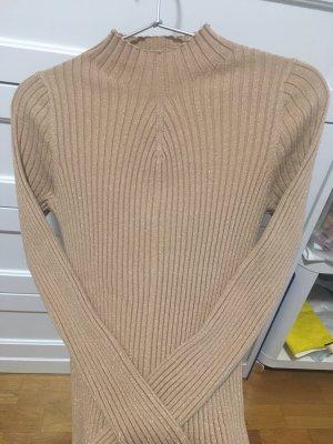 Guess Cienki sweter z dzianiny beżowy