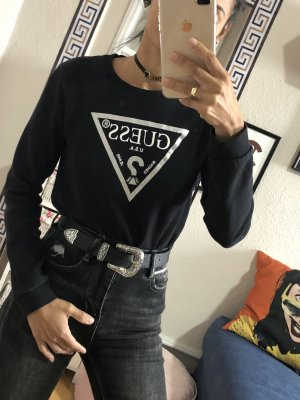 Guess Kraagloze sweater zwart