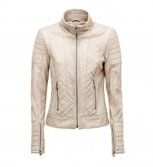 Guess Giacca in ecopelle beige chiaro