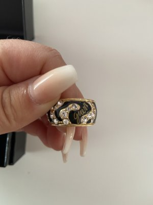 Guess Statement Ring black-gold-colored