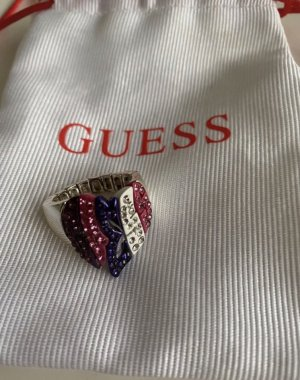 GUESS Ring bunt Strass Gr. 17,2