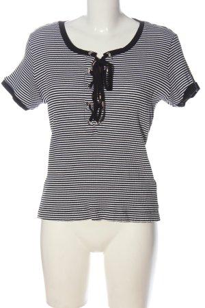 Guess Camisa de rayas negro-blanco estampado repetido sobre toda la superficie