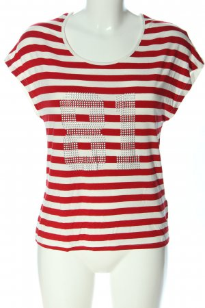 Guess Stripe Shirt white-red striped pattern casual look
