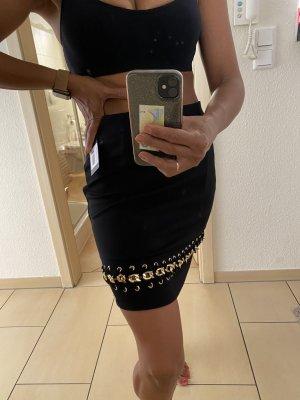 Guess High Waist Skirt black-gold-colored