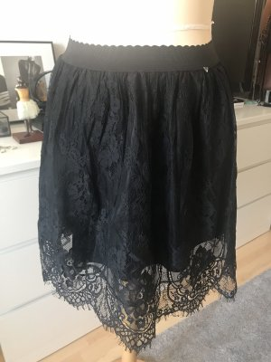 Guess Lace Skirt black-anthracite