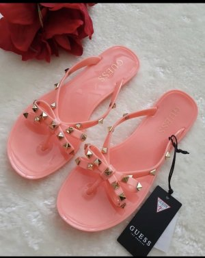 Guess Flip flop sandalen abrikoos