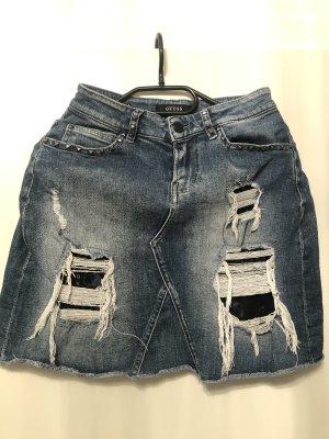 Guess Jupe en jeans bleu