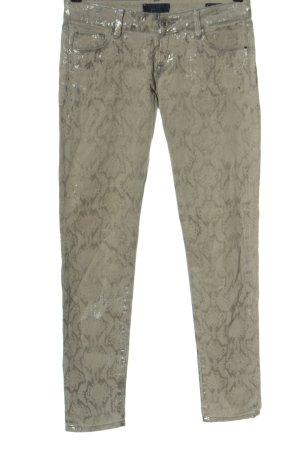 Guess Pantalón de tubo blanco puro-color plata look casual