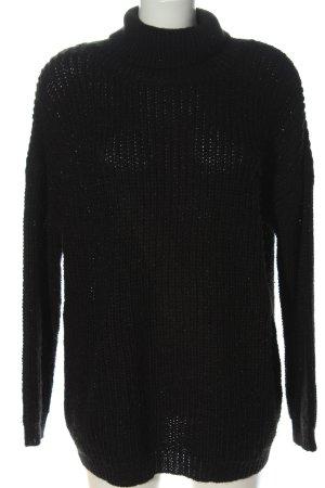Guess Sweter z golfem czarny W stylu casual
