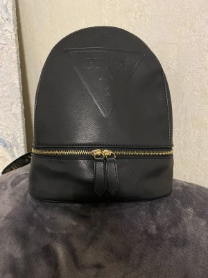 Guess School Backpack black-gold-colored