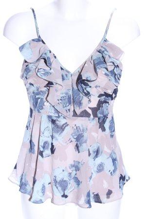 Guess Top met franjes roze-blauw volledige print casual uitstraling