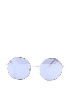 Guess Okrągłe okulary przeciwsłoneczne jasnoszary Nadruk z motywem