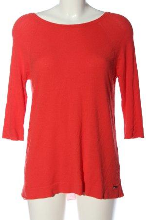 Guess Jersey de cuello redondo rojo look casual