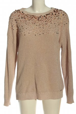 Guess Rundhalspullover nude Casual-Look