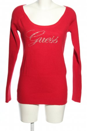Guess Rundhalspullover rot Casual-Look