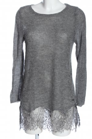 Guess Crewneck Sweater light grey flecked casual look