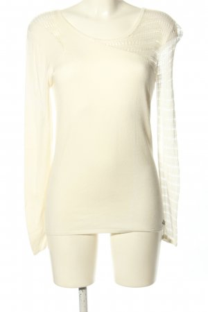 Guess Rundhalspullover wollweiß Casual-Look