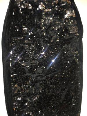 Guess Spódnica z wysokim stanem czarny-srebrny