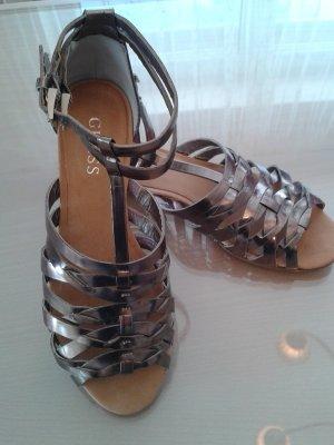 Guess Sandale aus Metallic-Leder