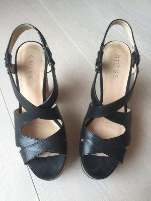 Guess Sandalias de tacón con plataforma negro