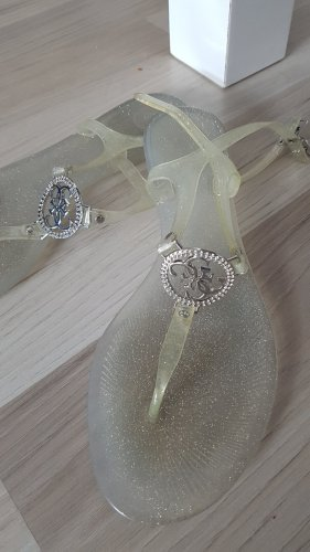 Guess Sandalo toe-post argento-grigio chiaro