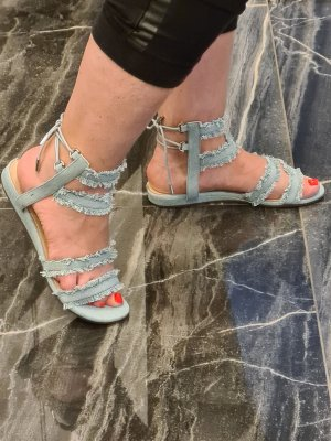 Guess Jeans Espadrille bleu azur coton