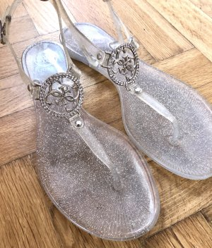 Guess Strapped Sandals silver-colored
