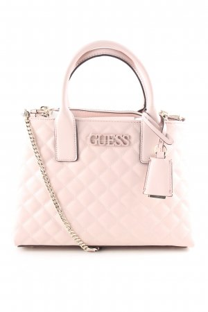 Guess Satchel pink Steppmuster Business-Look