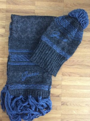 Guess Woolen Scarf anthracite-steel blue