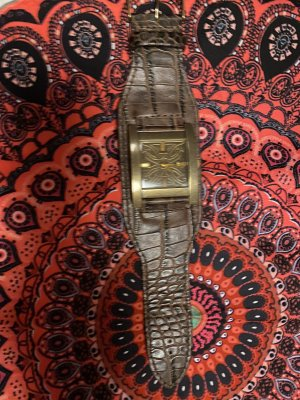 Guess Watch With Leather Strap multicolored