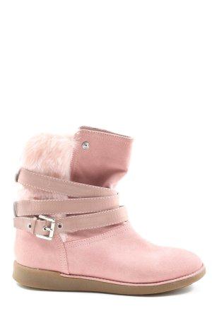 Guess Botas deslizantes rosa estampado temático look casual