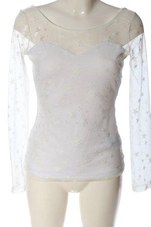 Guess Schlupf-Bluse weiß Elegant