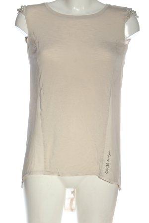 Guess Blusa caída blanco puro look casual