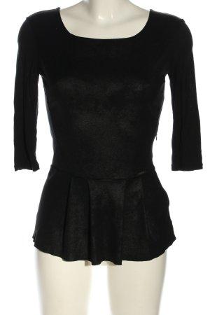 Guess Schlupf-Bluse schwarz Casual-Look